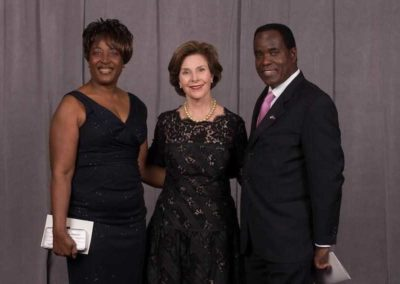 Johnny with First Lady Laura Bush